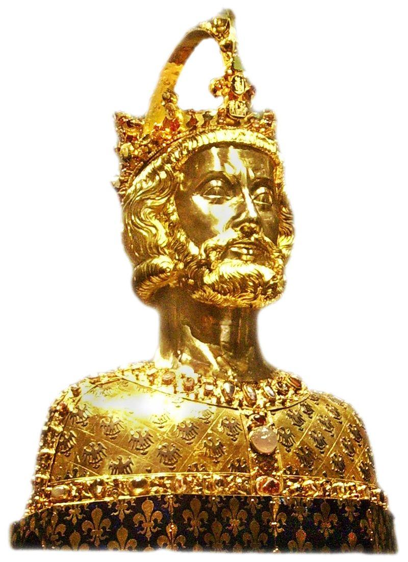 Карл I Великий, император Запада (золотая статуя-надгробие)