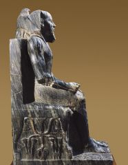 statue Of khafre enthroned 2520 Bc everett