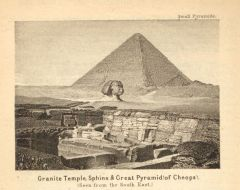 View Of The Granite Temple, The Sphinx, And The Great Pyramid Of Gîzeh. (1885)   TIMEA