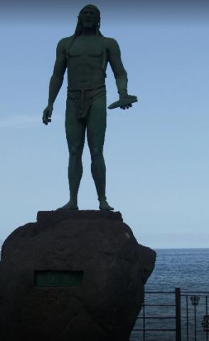 Статуя гуанчи
