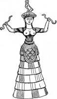 Богиня со змеями Крит, 1600 лет до н. э.jpg