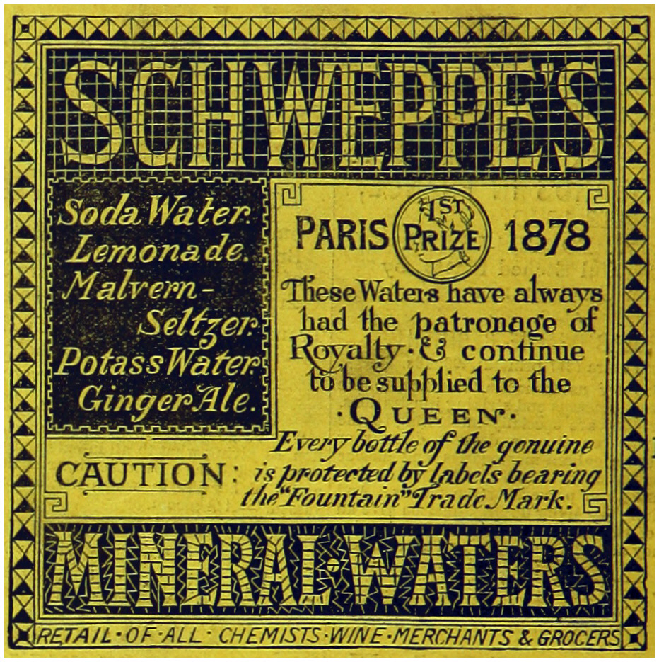 SCHWEPPES MINERAL-WATERS (1883)